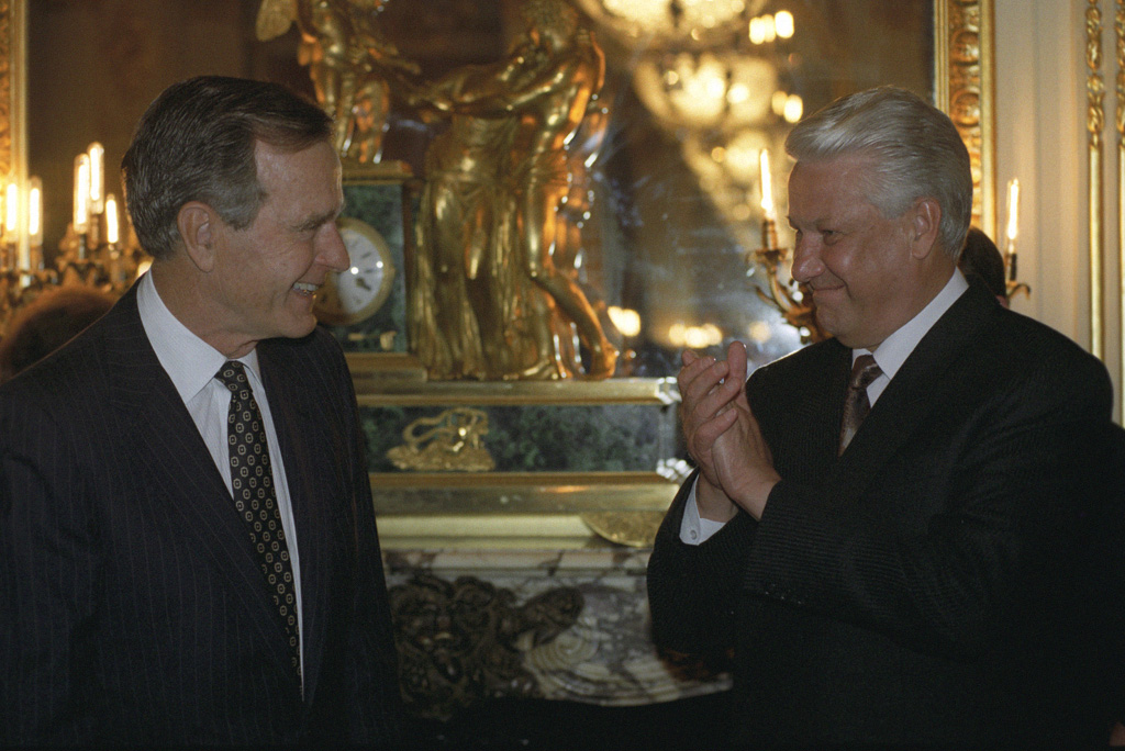 Bush and Yeltsin, June 1992