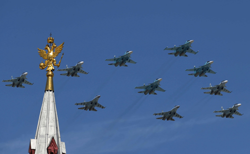 Russian military planes Moscow Victory Day parade 2018