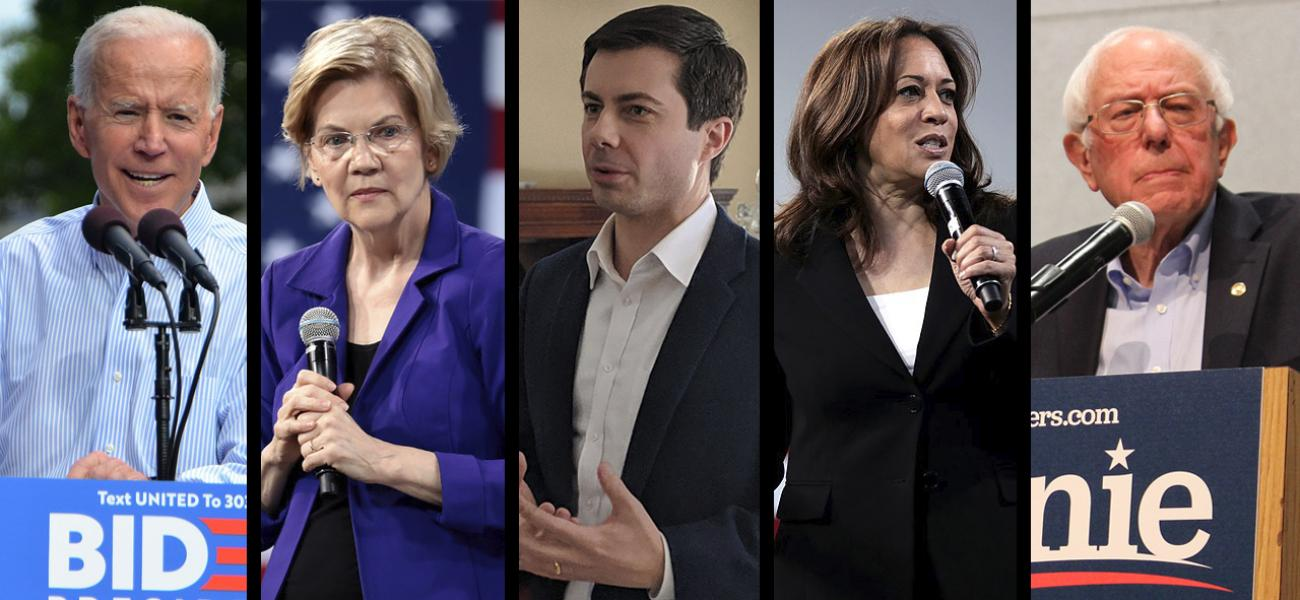 Top 5 leading Democratic candidates as of May 23, 2019.