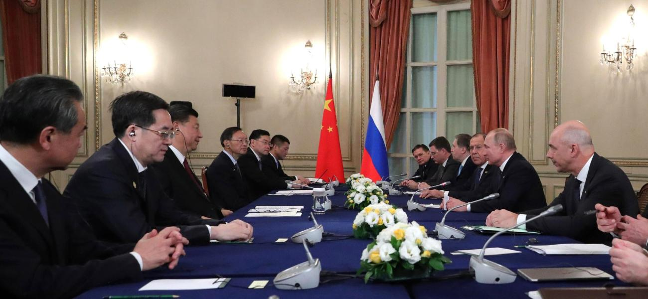 Meeting between Chinese President Xi Jinping and Russian President Vladimir Putin
