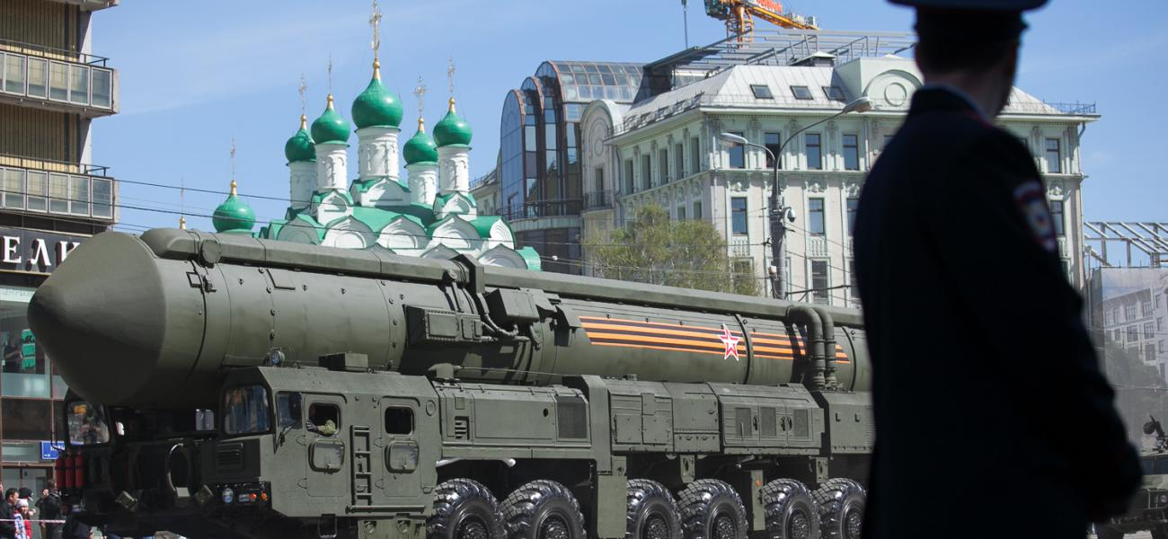 ICBM at military parade in Moscow