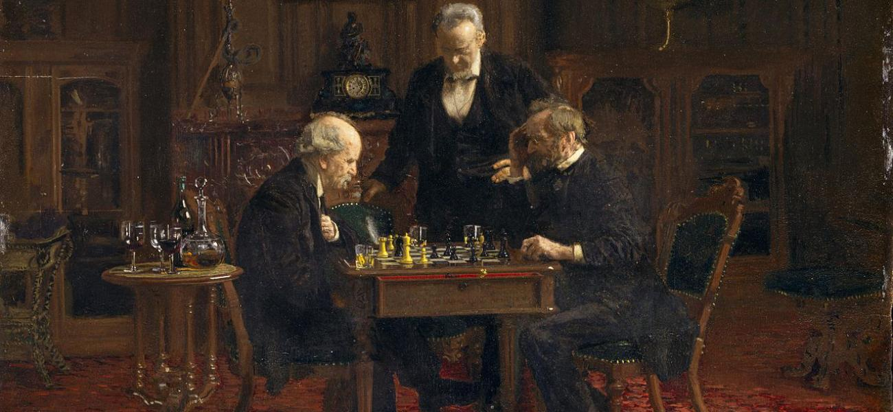 The chess players by Thomas Eakins.