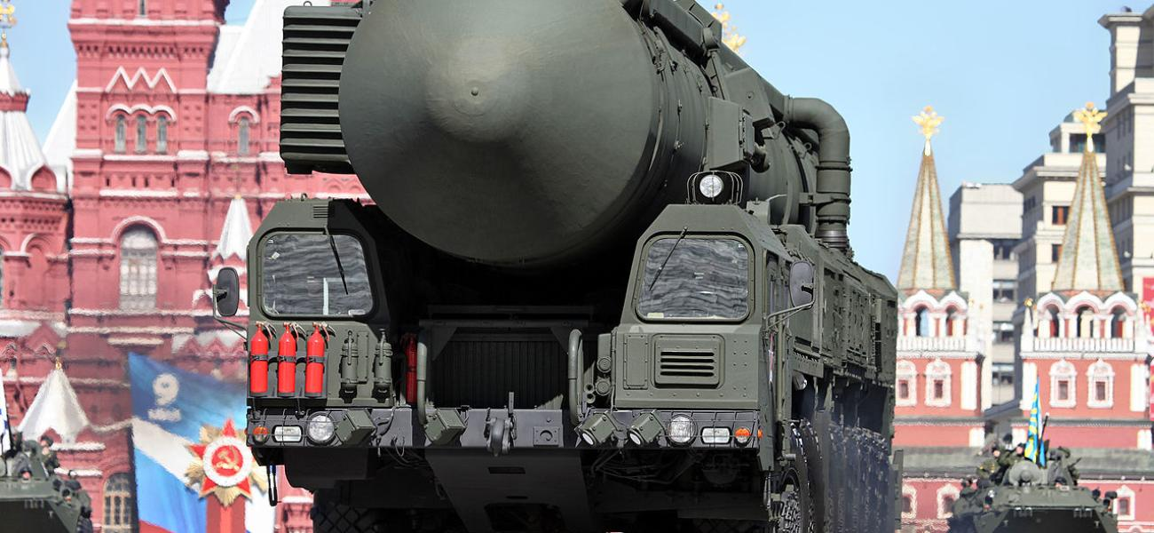 Russian Topol M missile on Red Square