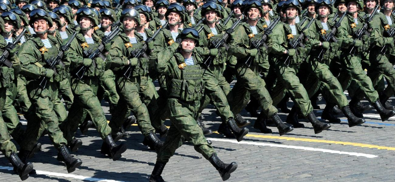 Russia military parade in Red Square, Moscow.