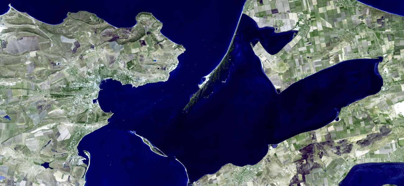 Image of the Kerch Strait from space