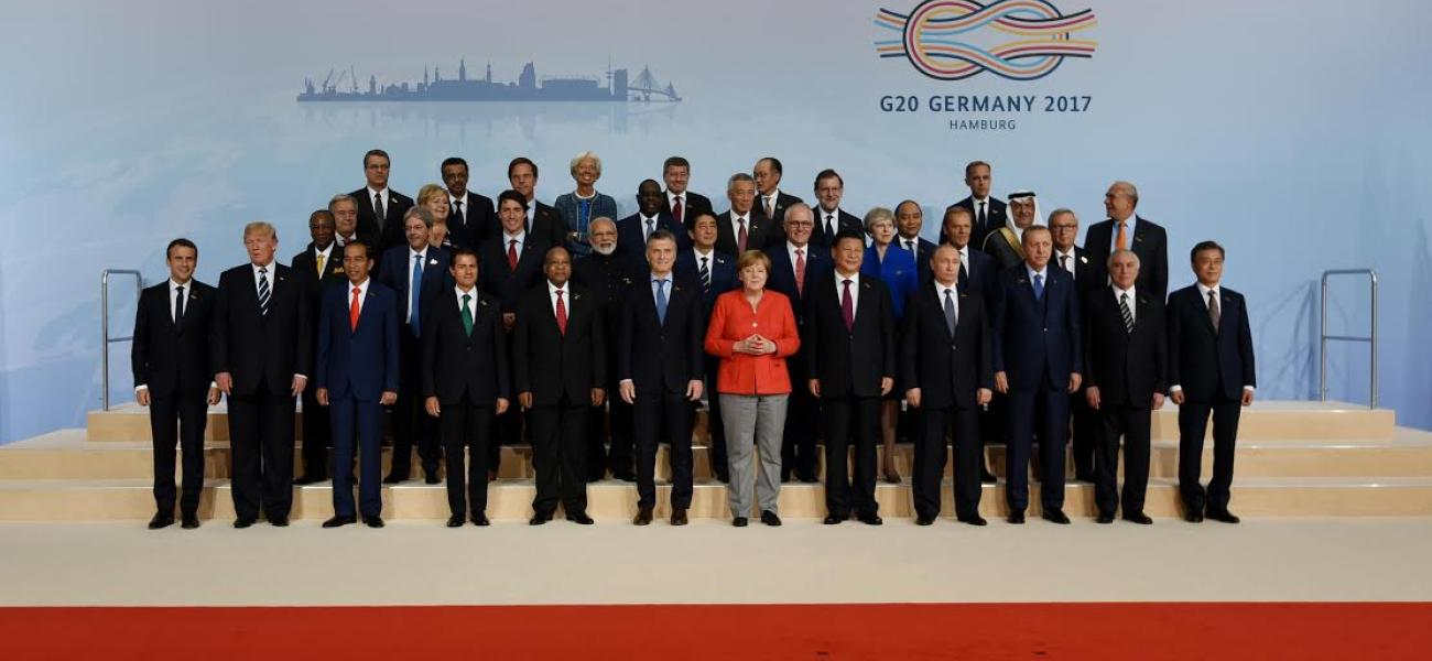 Trump, Putin and other G20 leaders in 2017