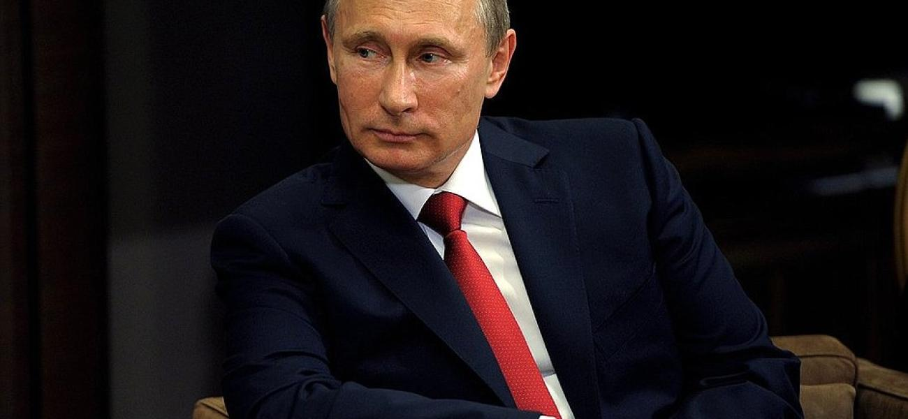 Russian President Vladimir Putin giving interview to Turkey's Anadolu news agency