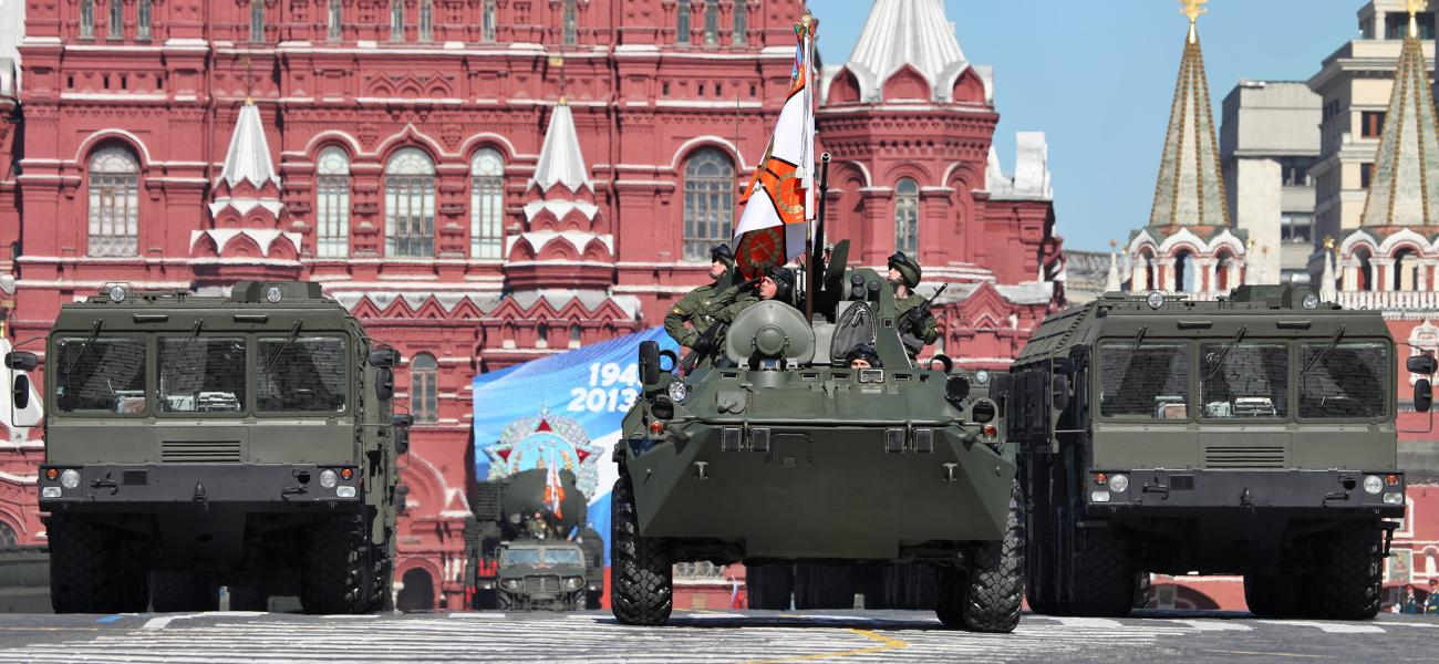 9P78-1 TEL for Iskander-M system at  2013 Moscow Victory Day Parade