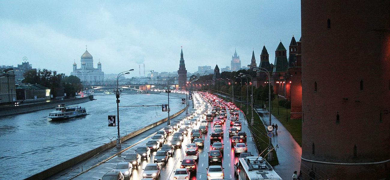 Traffic in Moscow.