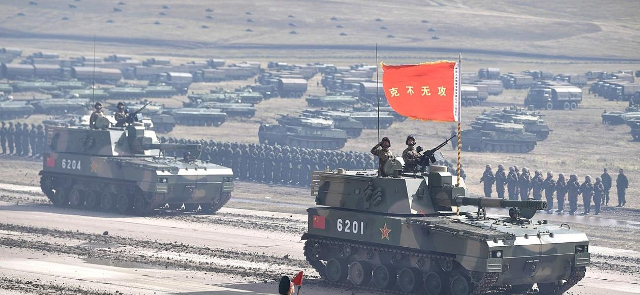Chinese forces participate in Vostok-2018.