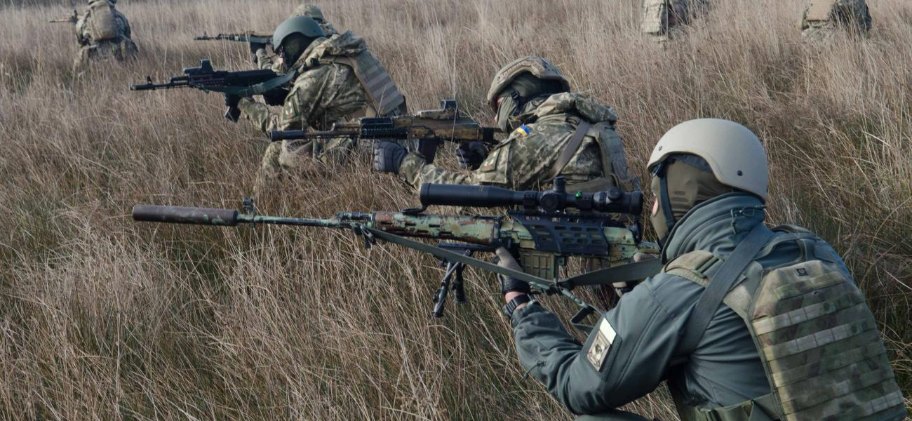 "Ukrainian soldiers take part in operation CDK ""Yurii Oliferenko."""