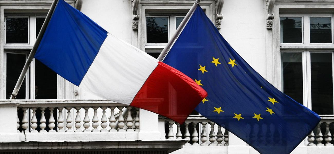flags of France and the EU