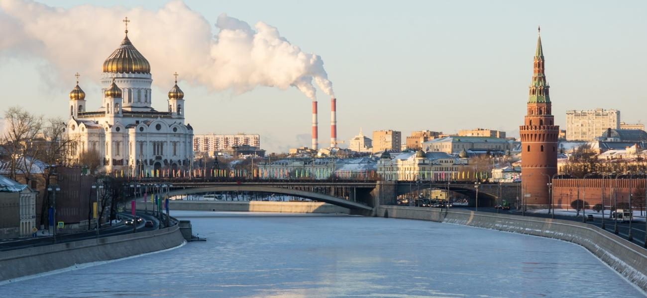 Moscow, Christ the Savior Cathedral, the Kremlin, Moskva River