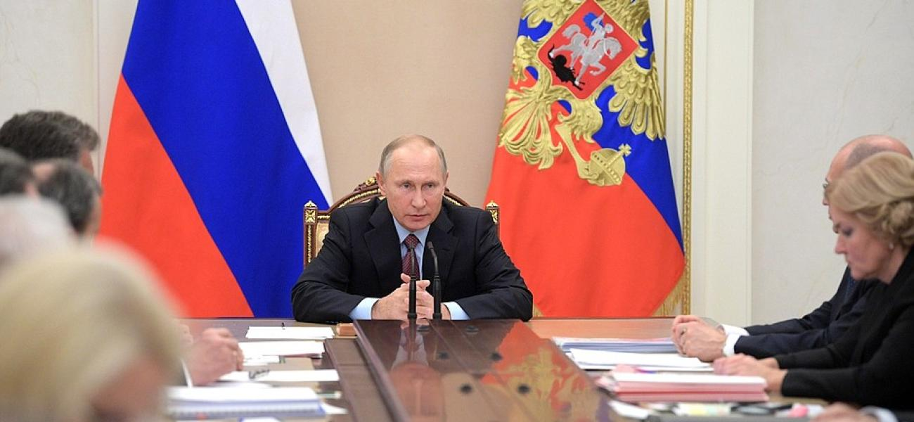 Russian President Vladimir Putin in the Kremlin.
